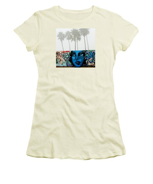 Foggy Venice Beach Women's T-Shirt (Athletic Fit)