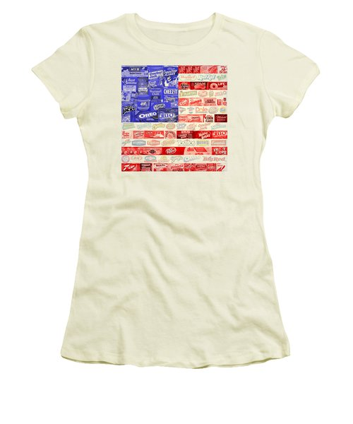 Food Advertising Flag Women's T-Shirt (Athletic Fit)