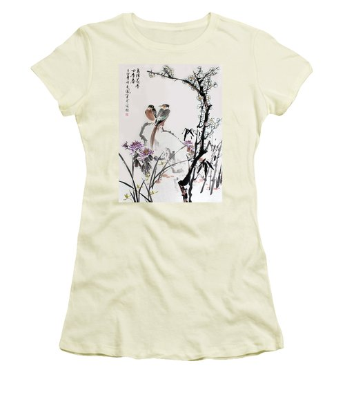 Four Seasons In Harmony Women's T-Shirt (Junior Cut) by Yufeng Wang
