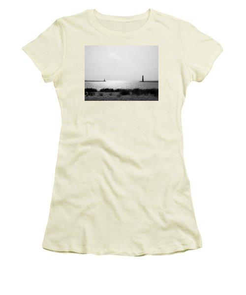Frankfort Michigan Harbor Women's T-Shirt (Athletic Fit)