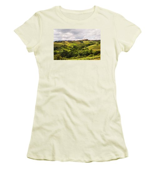 Women's T-Shirt (Junior Cut) featuring the photograph French Countryside by Allen Sheffield