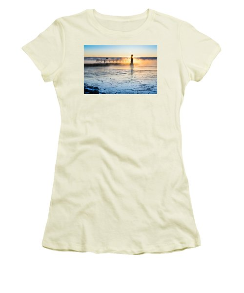 Frigid Sunrise Fog  Women's T-Shirt (Athletic Fit)