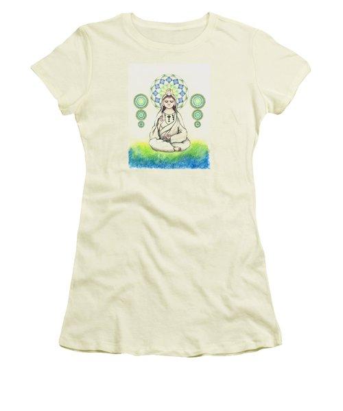 Fureai Quan Yin In Kyoto Women's T-Shirt (Athletic Fit)