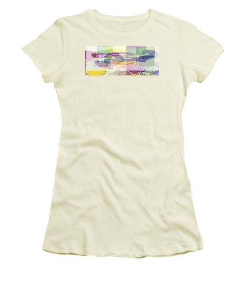 Women's T-Shirt (Junior Cut) featuring the digital art Geo-art by Cathy Anderson