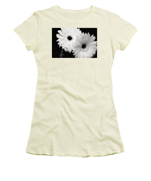 Women's T-Shirt (Junior Cut) featuring the photograph Gerbera Daisy Sisters by Jeannie Rhode