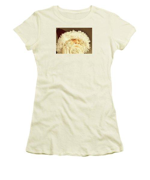 Women's T-Shirt (Junior Cut) featuring the photograph Gnome Santa by Nadalyn Larsen