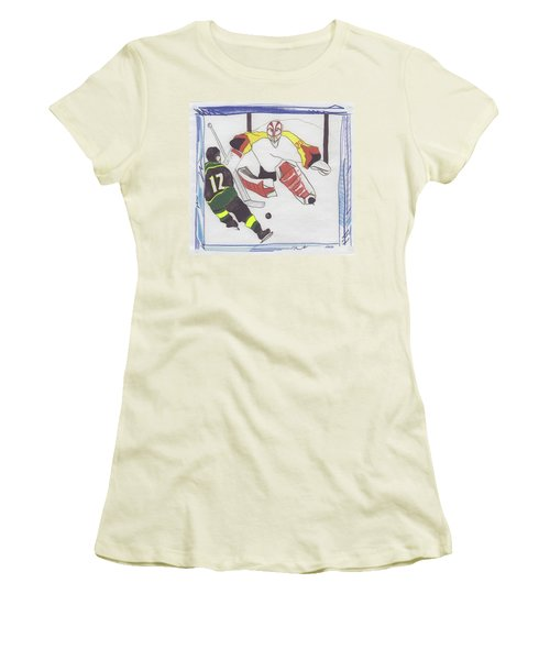 Women's T-Shirt (Junior Cut) featuring the drawing Shut Out By Jrr by First Star Art