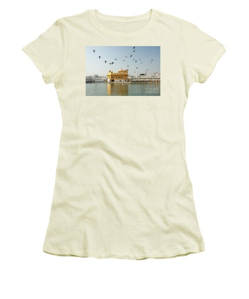 Golden Temple In Amritsar Women's T-Shirt (Athletic Fit)