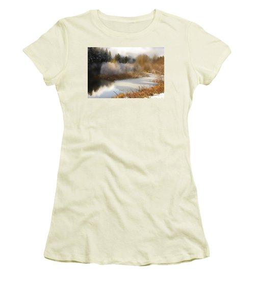 Golden Winter Women's T-Shirt (Athletic Fit)