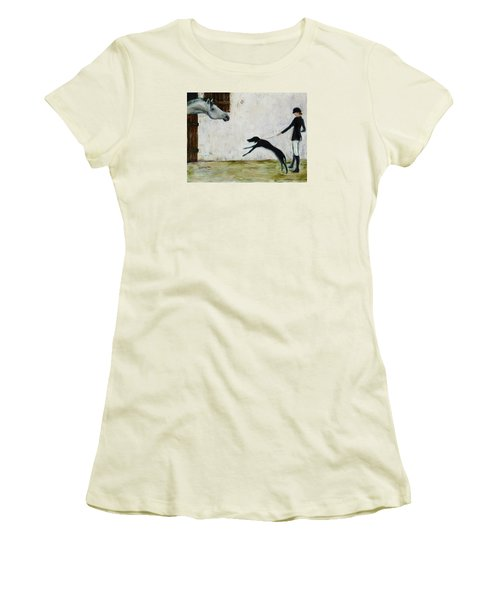 Good To See You Again Women's T-Shirt (Junior Cut) by Xueling Zou