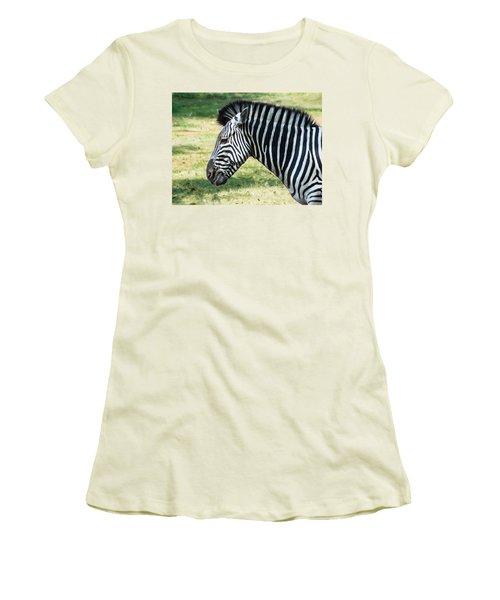 Grazing Zebra Women's T-Shirt (Athletic Fit)