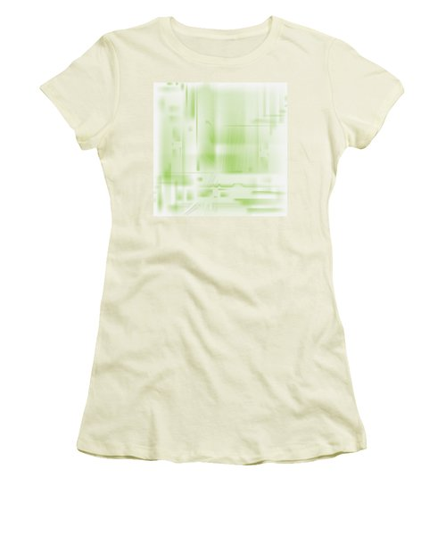 Green Ghost City Women's T-Shirt (Athletic Fit)
