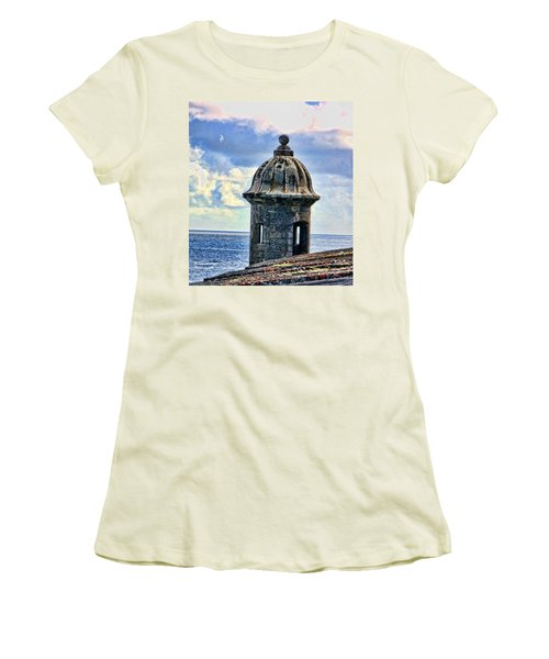 Guard Tower At El Morro Women's T-Shirt (Athletic Fit)