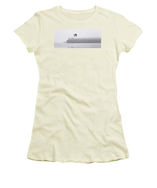 Gull In Flight Women's T-Shirt (Junior Cut) by Marty Saccone