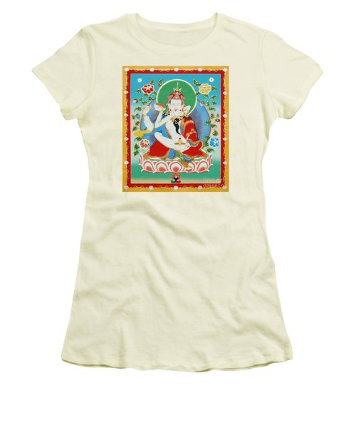 Guru Rinpoche Yab Yum Women's T-Shirt (Athletic Fit)