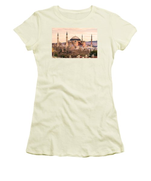 Hagia Sophia Mosque - Istanbul Women's T-Shirt (Junior Cut) by Luciano Mortula