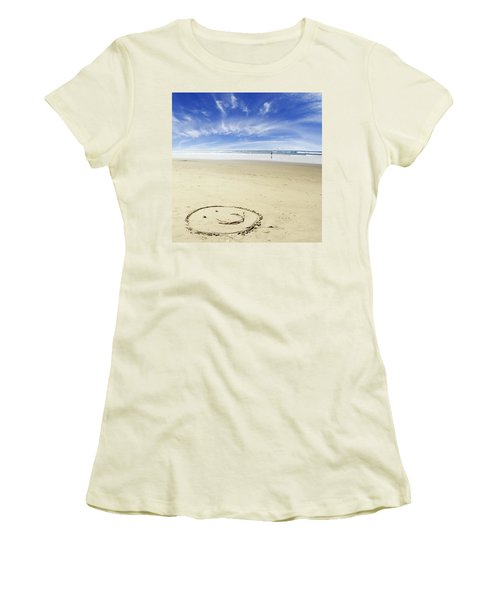 Happiness Women's T-Shirt (Junior Cut) by Les Cunliffe