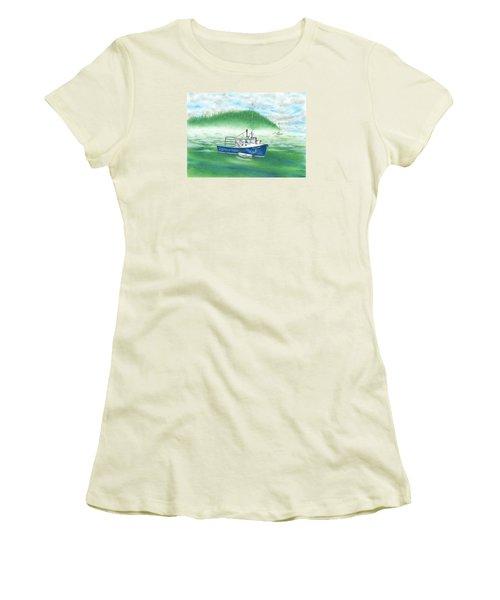 Harbor Women's T-Shirt (Junior Cut) by Troy Levesque
