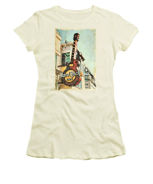 Hard Rock Guitar Women's T-Shirt (Athletic Fit)
