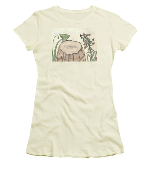 Women's T-Shirt (Junior Cut) featuring the painting Harvested Beauty by Kim Pate