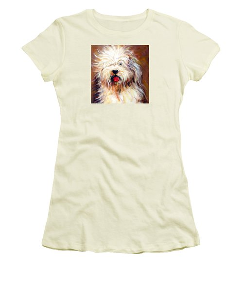 Harvey The Sheepdog Women's T-Shirt (Athletic Fit)