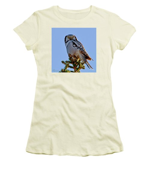 Hawk Owl Square Women's T-Shirt (Athletic Fit)