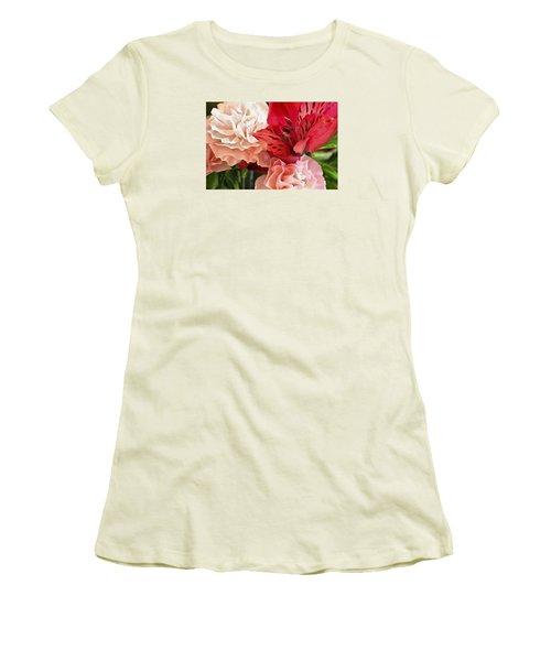 Heart's A Flutter Women's T-Shirt (Athletic Fit)