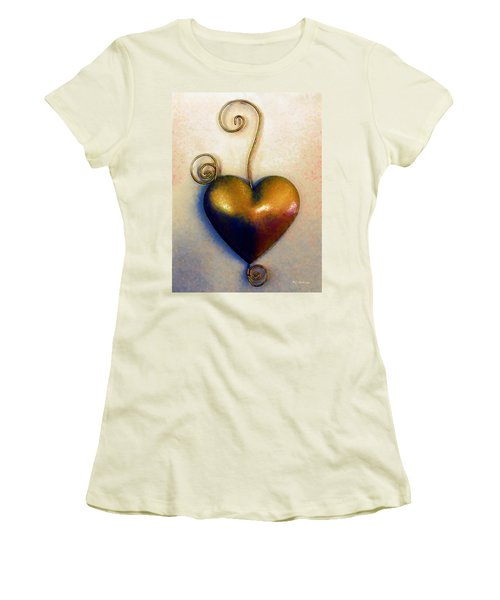 Heartswirls Women's T-Shirt (Junior Cut) by RC deWinter