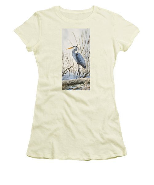 Herons Natural World Women's T-Shirt (Junior Cut) by James Williamson