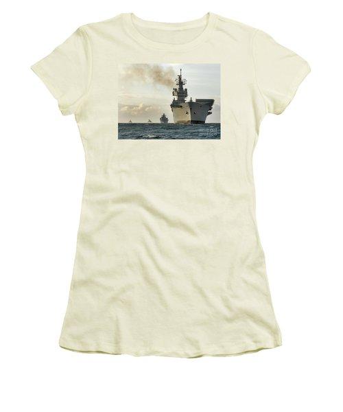 Hms Ark Royal  Women's T-Shirt (Junior Cut) by Paul Fearn