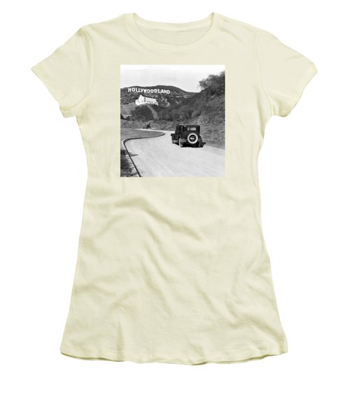 Hollywoodland Women's T-Shirt (Athletic Fit)