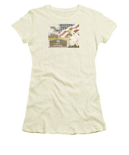 Hope High School Women's T-Shirt (Junior Cut) by Dustin Miller