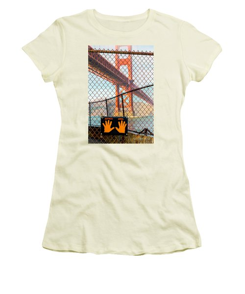 Hoppers Hands Women's T-Shirt (Junior Cut) by Jerry Fornarotto