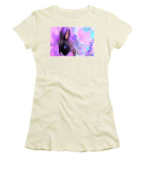 Hoppy Easter Women's T-Shirt (Athletic Fit)