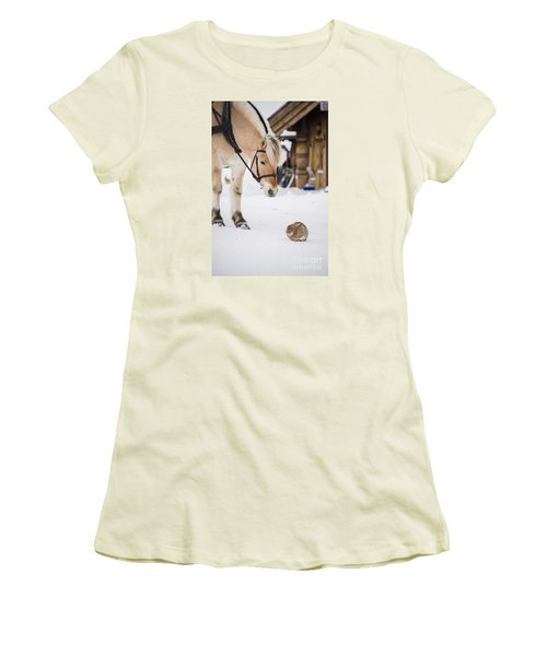 Horse And Rabbit Women's T-Shirt (Athletic Fit)