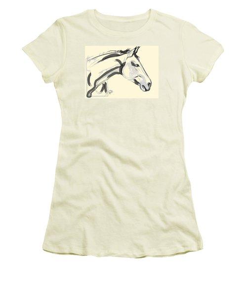 Horse - Lovely Women's T-Shirt (Junior Cut) by Go Van Kampen