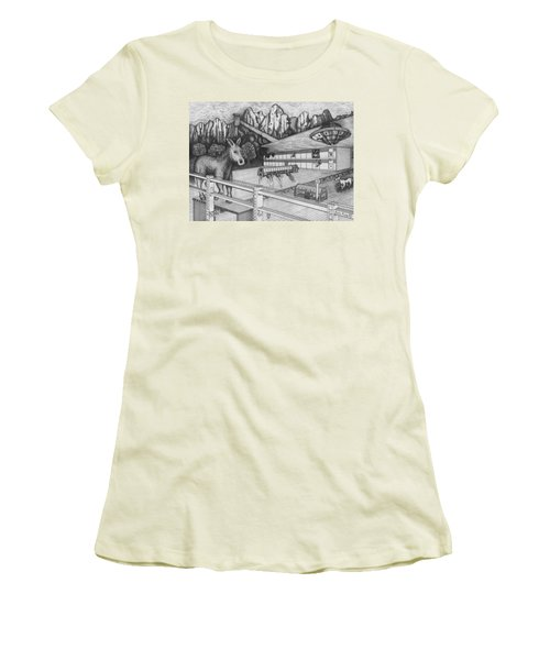 Horse Perspective Women's T-Shirt (Athletic Fit)