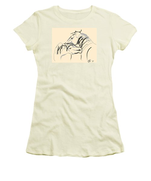 Horse - Together 4 Women's T-Shirt (Junior Cut) by Go Van Kampen
