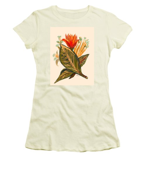 Women's T-Shirt (Junior Cut) featuring the digital art Hot Tulip Spring by Christine Fournier