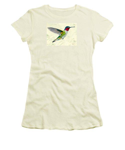 Da103 Broadtail Hummingbird Daniel Adams Women's T-Shirt (Athletic Fit)