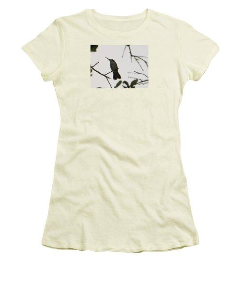Hummingbird Silhouette 2 Women's T-Shirt (Athletic Fit)