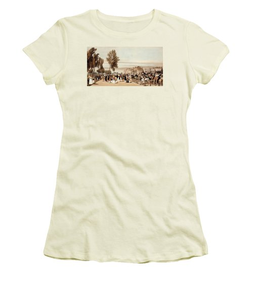 Hyde Park, Towards The Grosvenor Gate Women's T-Shirt (Athletic Fit)