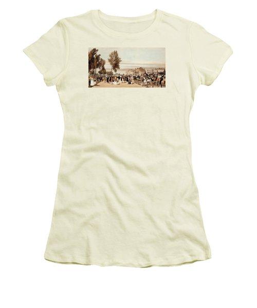 Hyde Park, Towards The Grosvenor Gate Women's T-Shirt (Athletic Fit)