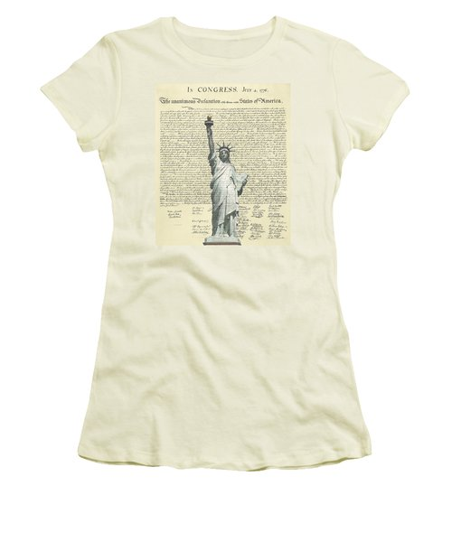Icon Of Freedom Women's T-Shirt (Junior Cut) by Charles Beeler