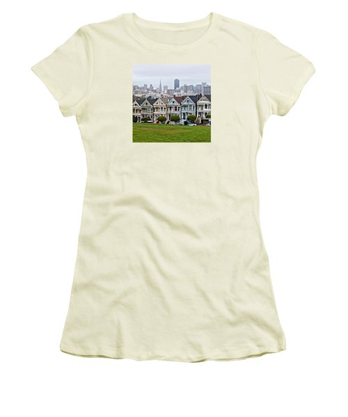 Iconic Painted Ladies Women's T-Shirt (Athletic Fit)