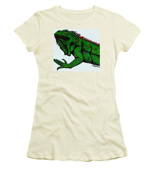 Iguana Women's T-Shirt (Athletic Fit)
