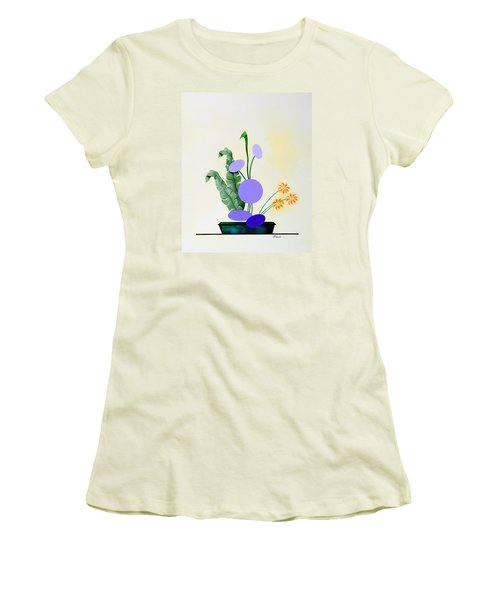 Ikebana #2 Green Pot Women's T-Shirt (Junior Cut) by Thomas Gronowski