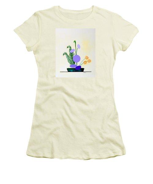 Ikebana #2 Green Pot Women's T-Shirt (Athletic Fit)