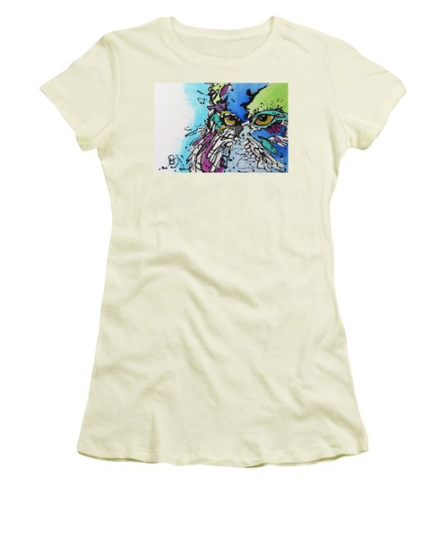 Women's T-Shirt (Junior Cut) featuring the painting Immutable by Nicole Gaitan
