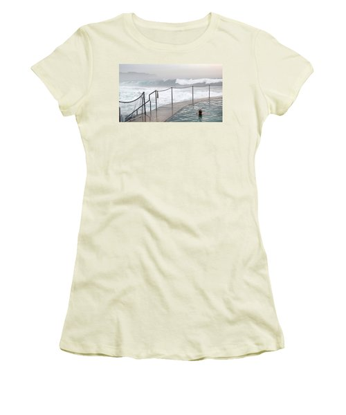 Women's T-Shirt (Junior Cut) featuring the photograph In Safe Waters by Evelyn Tambour